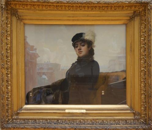 "Ivan Kramskoi, ""Unknown Woman,"" 1883, oil on canvas, Tretyakov Gallery, Moscow, CA"
