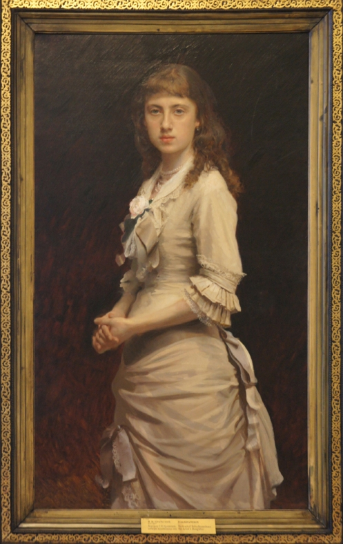 """""""Portrait of the Artist's Daughter Sophia,"""" 1882, oil on canvas, Russian Museum, St. Petersburg."""