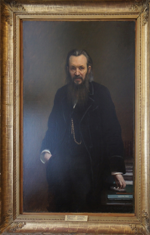 """""""Portrait of the Writer and Publicist Alexi Suvorin,"""" 1887, oil on canvas, Russian Museum, St. Petersburg."""