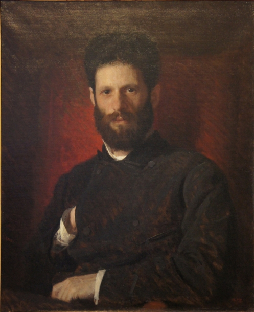 """""""Portrait of the Sculptor Marcus Antokolsky,"""" 1876, oil on canvas, Russian Museum, St. Petersburg."""